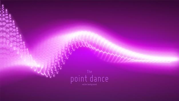 Abstrakcyjne fioletowe tło fali cząstek