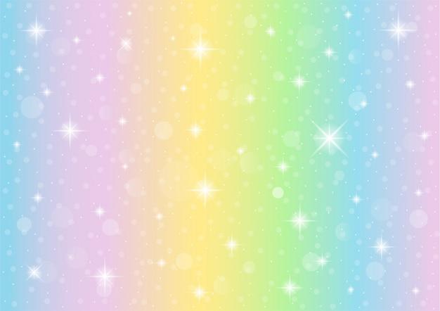 Abstrakcyjne galaxy fantasy jednorożec tło. tęcza tło. holograficzny