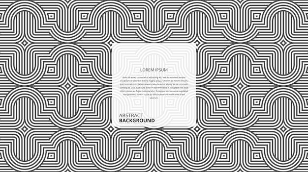 Abstrakcyjne geometryczne faliste krzywe kwadratowe linie wzór