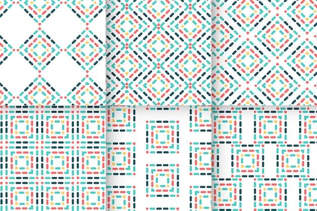 Abstrakcyjne geometryczne kształty o kolorowym nowoczesnym wzorze