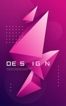 Abstrakcyjne geometryczne tło z trójkątnymi kształtami, kolorowa minimalna okładka