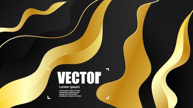 Abstrakcyjne gradienty złota tła.