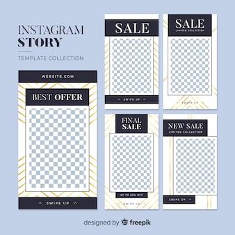 Abstrakcyjne historie sprzedaży na instagramie