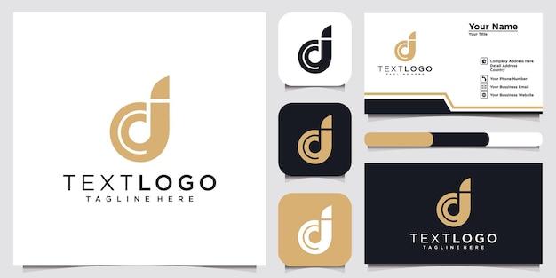 Abstrakcyjne ikony dla początkowej litery d ikona logo szablon projektu i wizytówki
