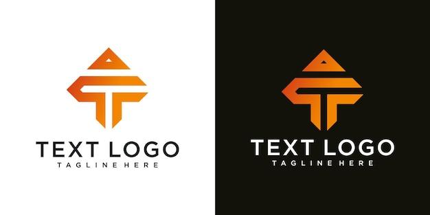 Abstrakcyjne ikony dla szablonu projektu logo litery t ikona