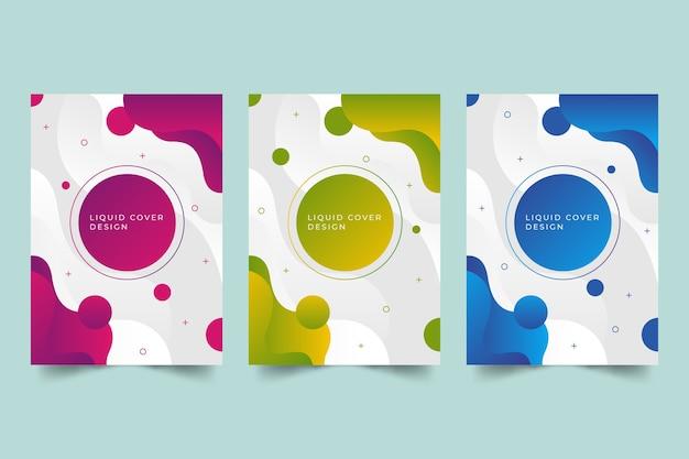Abstrakcyjne kolekcje projektów okładek gradientu