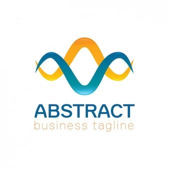 Abstrakcyjne kolory fale logo