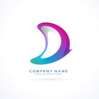 Abstrakcyjne kreatywne logo litera d