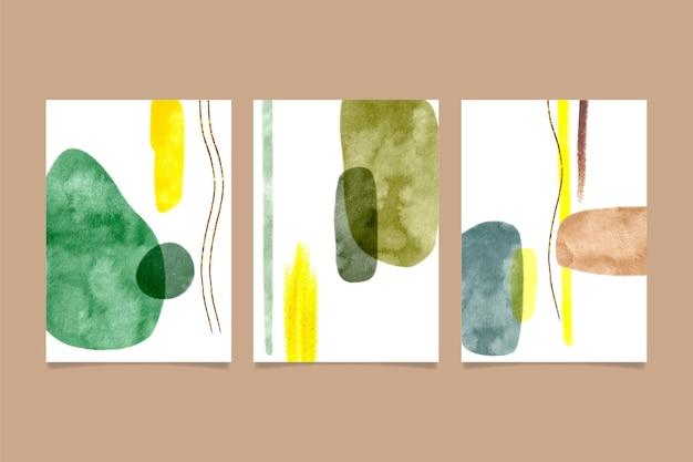 Abstrakcyjne kształty akwarela obejmuje opakowanie