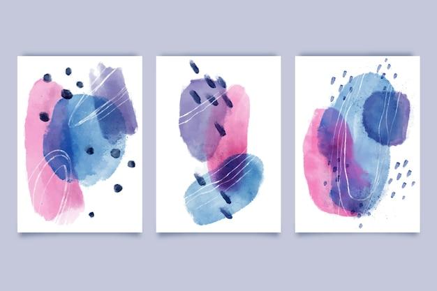 Abstrakcyjne kształty akwarela obejmuje