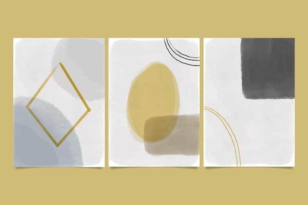 Abstrakcyjne kształty akwarela - okładki