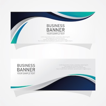 Abstrakcyjne kształty banery biznesowe