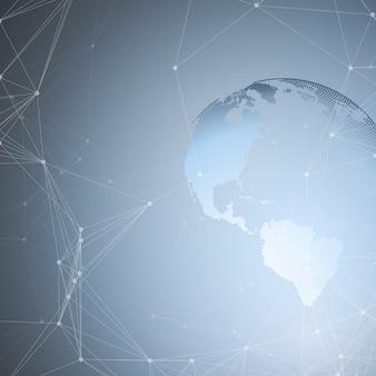 Abstrakcyjne kształty futurystycznej sieci. zaawansowana technologia,