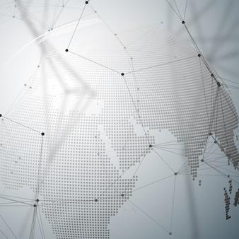 Abstrakcyjne kształty futurystycznej sieci