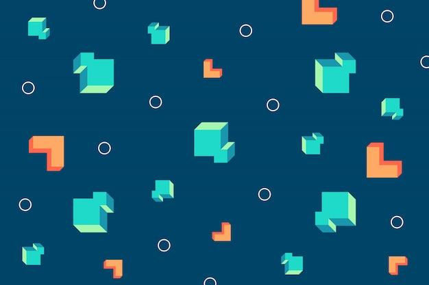 Abstrakcyjne kształty geometryczne 3d tło