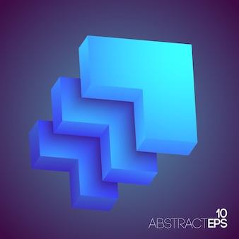 Abstrakcyjne kształty geometryczne 3d