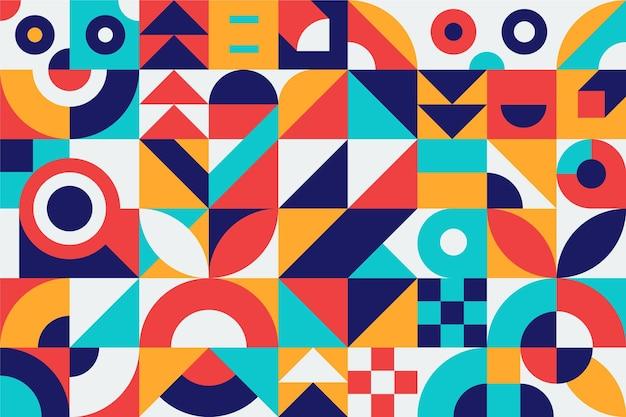 Abstrakcyjne kształty geometryczne kolorowy design