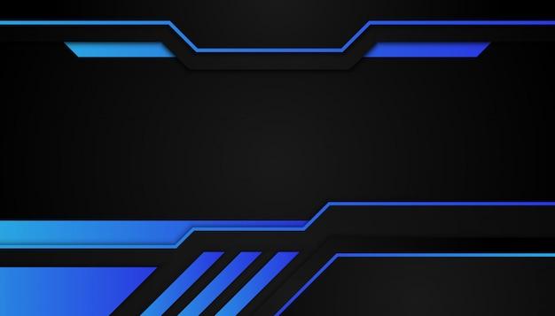 Abstrakcyjne kształty geometryczne niebieskie światło na ciemnym tle sportu
