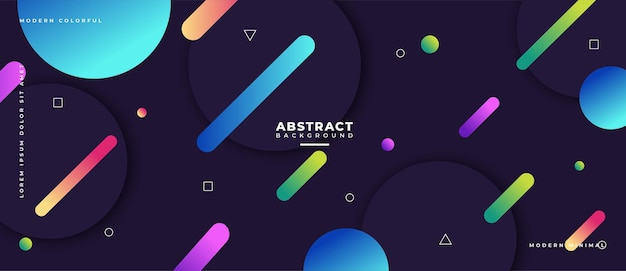 Abstrakcyjne kształty geometryczne transparent kompozycji