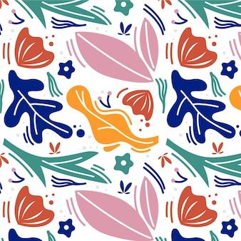 Abstrakcyjne kształty kolorowy wzór