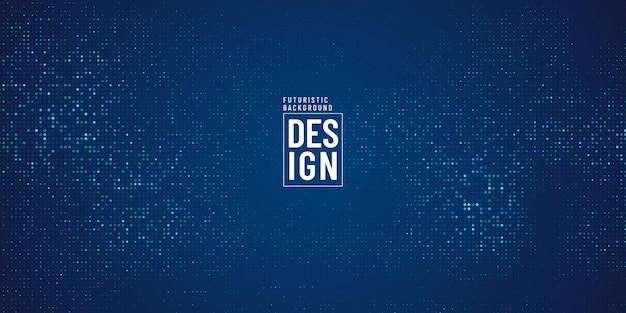 Abstrakcyjne kształty kropkowane jasnozielony niebieski kolor na ciemnym tle. nowoczesny design z efektem półtonów i brokatu.