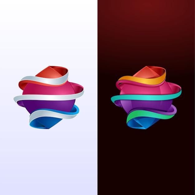 Abstrakcyjne kształty modnej kolekcji logo
