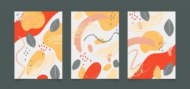 Abstrakcyjne kształty obejmują projekt