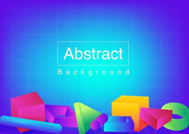 Abstrakcyjne kształty w jasnych kolorach i minimalistycznych kształtach.