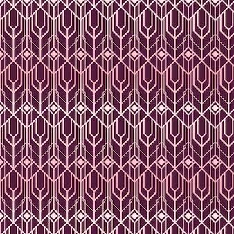 Abstrakcyjne kształty wzór w stylu art deco z różowego złota