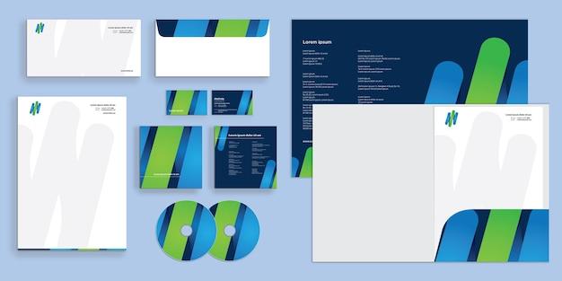 Abstrakcyjne linie gradientowe nowoczesna tożsamość firmy korporacyjnej stacjonarne