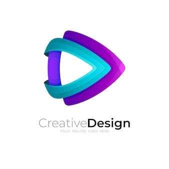 Abstrakcyjne logo gry z kolorowym wzorem