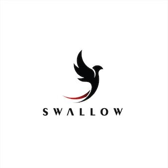 Abstrakcyjne logo jaskółki prosty mucha ptak
