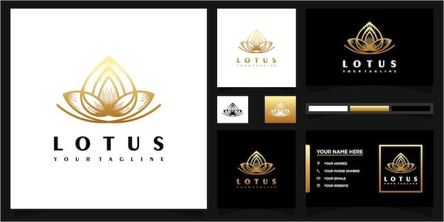 Abstrakcyjne logo kwiatowe i odniesienie do wizytówek premium wektorów.