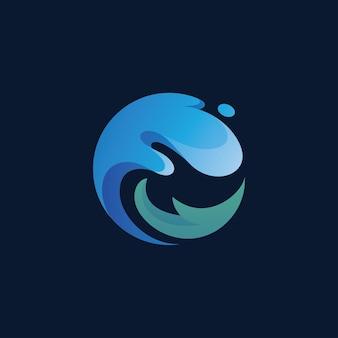 Abstrakcyjne logo splash fala wody