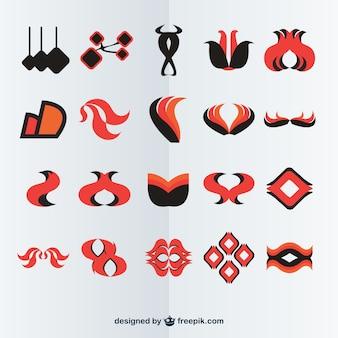 Abstrakcyjne logo zestaw do pobrania za darmo