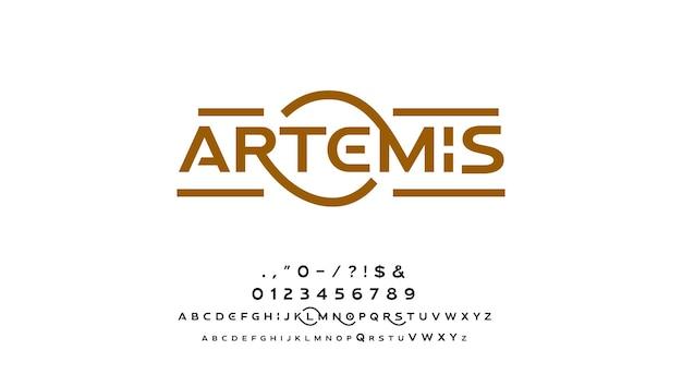 Abstrakcyjne nowoczesne minimalne czcionki alfabetu