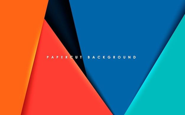 Abstrakcyjne nowoczesne warstwy wymiaru tła papercut