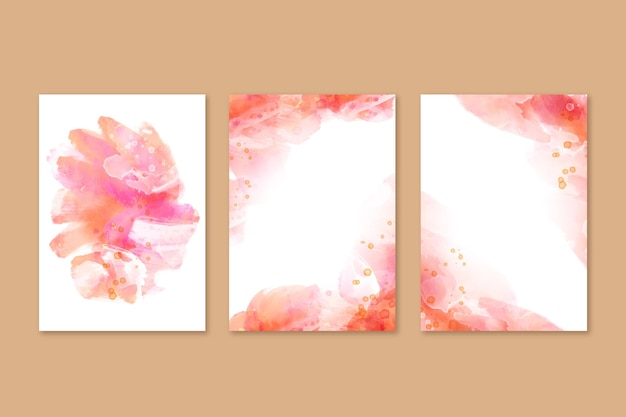 Abstrakcyjne okładki akwarelowe
