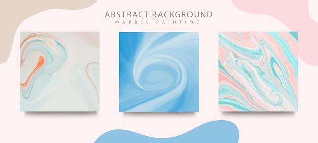 Abstrakcyjne okładki do malowania płynnym tuszem. mieszanka koloru tekstury marmuru.