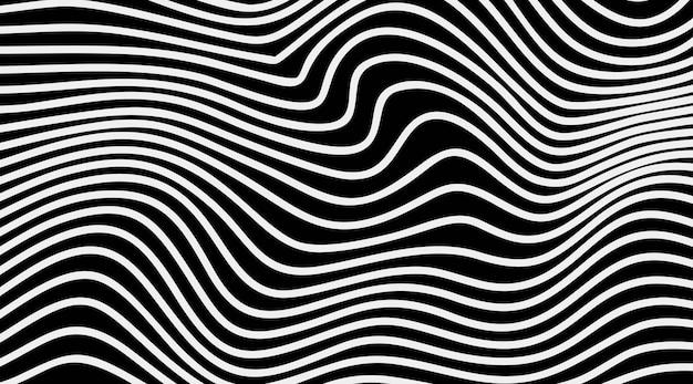 Abstrakcyjne paski optyczne sztuki fali linii tła