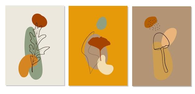 Abstrakcyjne plakaty jesienne