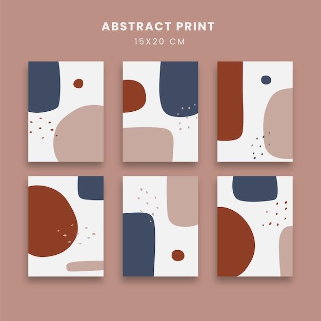 Abstrakcyjne plakaty z geometrycznymi kształtami