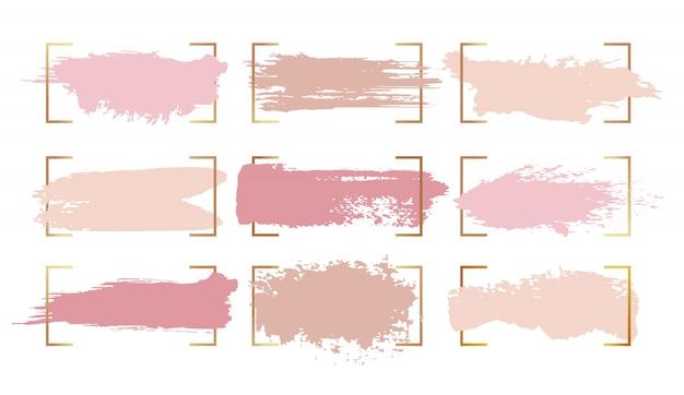 Abstrakcyjne pociągnięcia pędzlem farby tuszem