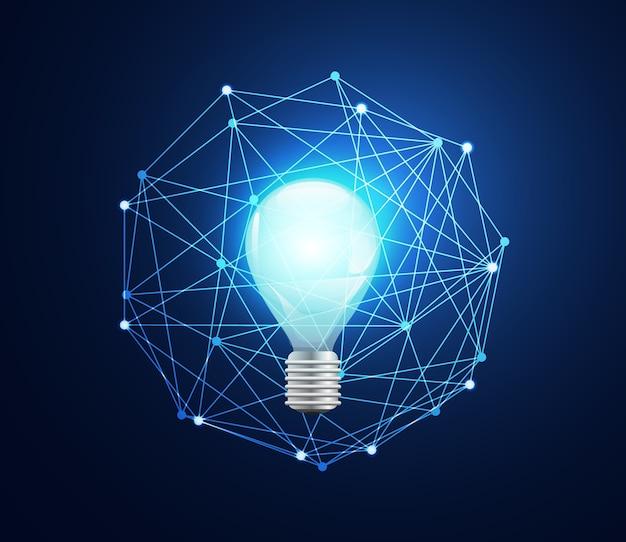 Abstrakcyjne pojęcie technologii żarówka łącze cyfrowe