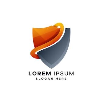 Abstrakcyjne projekty logo tarczy