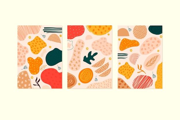 Abstrakcyjne ręcznie rysowane kształty obejmuje kolekcję szablonów