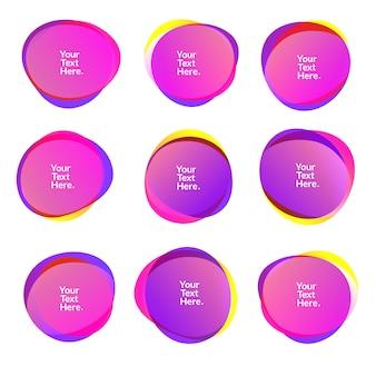 Abstrakcyjne rozmycie dowolnych kształtów gradientu kolorów opalizujące kolory efekt miękkie przejście, ilustracja eps10