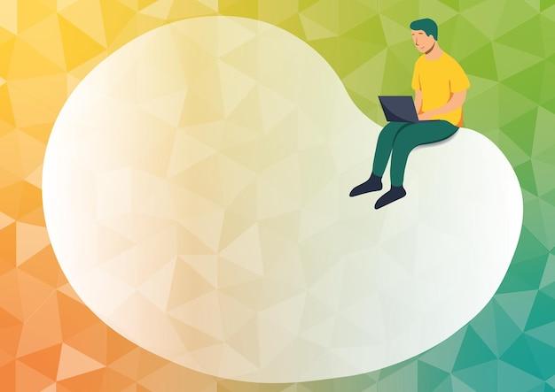 Abstrakcyjne rozpowszechnianie wiadomości online, globalne koncepcje łączności, pomysły na czaty, pomysł na przechowywanie w chmurze, wysyłanie nowych wiadomości, połączenia między ludźmi