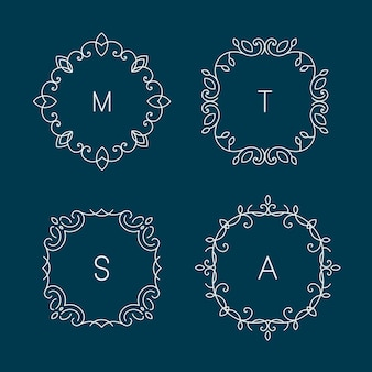 Abstrakcyjne szablony projektów logo dla spa, kwiaciarni i kosmetyków.