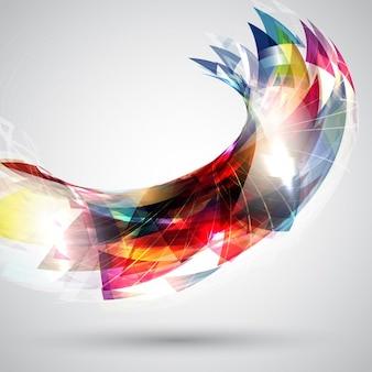 Abstrakcyjne tła z kolorowych projektowania kształtu